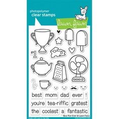 Lawn Fawn - Clear Stamps - Best Pun Ever LF845