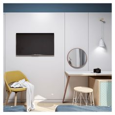 The aesthetics of the room in terms of simplicity, colors, materials' and motifs' combinations, are evocative of a playful and peaceful place in the city. Interior Concept, Interior Design, Open Bathroom, Double Room, Peaceful Places, Interior Architecture, Aesthetics, City, Colors