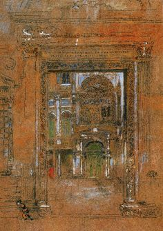 James Abbott McNeill Watercolors | James Abbott McNeill Whistler San Giovanni Apostolo et Evangelista ...