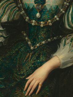 """detailsofpaintings: """" Workshop of Rubens, Anne d'Autriche, reine de France (detail) c. 1625 """""""