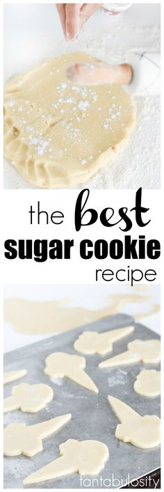 The BEST Sugar Cookie Recipe for decorating and eating. After baking, freeze them to decorate later! They're THAT good!