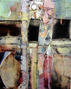 Collage papiers La cave de Vouvray