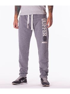 Pantaloni barbati sport Duffer T gri