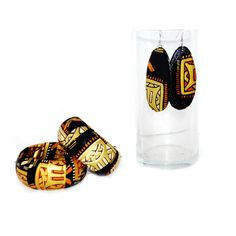 Gold And Black African Bangle Bracelet And  by ZabbaDesigns