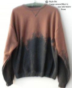 Sweatshirt, Gray Crewneck Sweatshirt  - Gray sweatshirt, tie dye sweatshirt, Crew neck, dip dye, Acid wash, Acid wash sweatshirt, Grunge by Styleon on Etsy