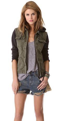 Pieced twill jacket