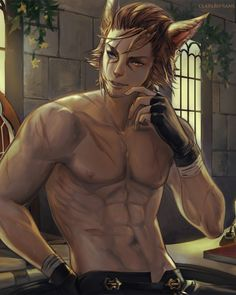 """""""Val Nunh"""" (cropped for detail) by Phong Anh (Claparo-Sans) on DeviantArt. Final Fantasy XIV player character."""