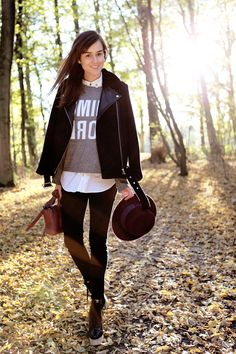 Jacket: Sandro (c/o)  |  Jumper: Monki  |  Black jeans: J Brand  |  Bag: 3.1 Phillip Lim  |  Hat: Zara  oct