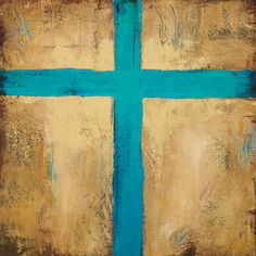 """Speaking of my roots growing up in Santa Fe. Turquoise Cross Giclee, 18"""" x 18"""""""