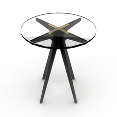 Clean and elegant, the Dean Round Side Table is inspired by silhouettes of mid-century modern design.