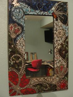 Mosaic Butterfly Mirror