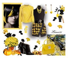 """""""yellow autumn"""" by lumi-21 ❤ liked on Polyvore featuring SLY 010, Michael Kors, River Island, Gianvito Rossi, Fabrizio Mancini, Kate Spade, Sabine, Cerentino, Furla and Yves Saint Laurent"""