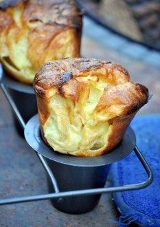 Huge Yorkshire Puddings These were delicious and puffed up great! Leftovers were eaten with jam for breakfast! Yorkshire Pudding Recipes, Beef Recipes, Cooking Recipes, Recipies, Popover Recipe, Muffins, Good Food, Yummy Food, Healthy Food