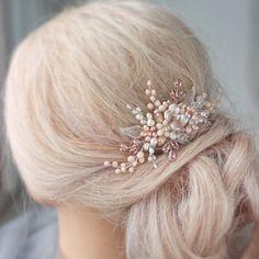 Magic Comb épingle à cheveux papillon perles hairclip perles rose