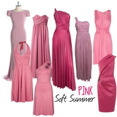 Soft Summer Pink by colorazione on Polyvore featuring мода, Pier 1 Imports, Untold, ABS by Allen Schwartz, Issa, Butter by Nadia, soft summer. soft, summer and pink