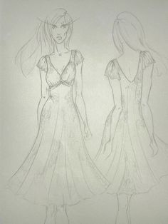 For my Plus-size Range : Molteno Creations sketch. Dress Designs, Fashion Illustrations, Dream Dress, Drawing S, Designer Dresses, Dreaming Of You, Sketch, Range, Plus Size