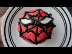 Decorating Cupcakes #50: Spiderman. like the idea of using the candys for eyes I will shape them different