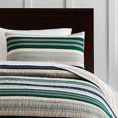 Pacific Stripe Quilt + Standard Sham #PBteen