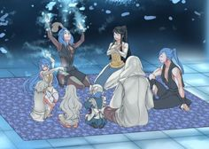 Nothing makes me happier then seeing them all happy and alive But I have to ask Who is the person next to Anankos He looks like Shigure but isn't dressed like him and Kamui and Lillith look far too young for Shigure to even be born Perhaps it's Cadros?