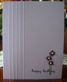 My Stamping Addiction: One-Layer Card.  Really like the single embossed lines