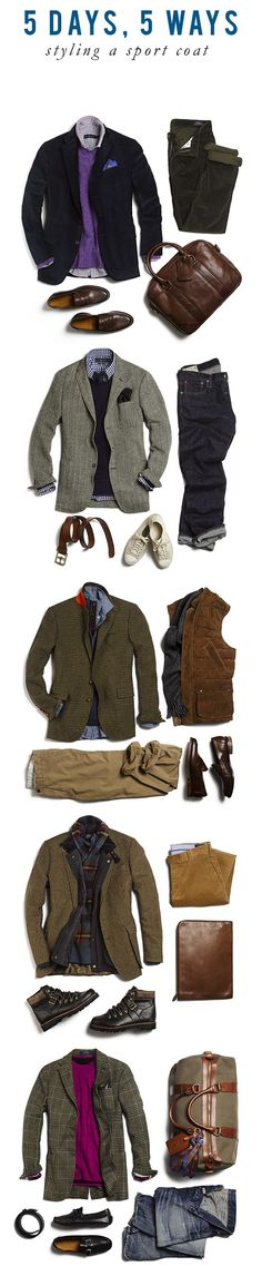 5 ways to wear a sport coat, men's style inspiration from Style Girlfriend