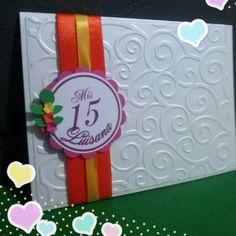Tarjeta invitacion 15 años