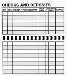 Large Print Check Register Printable | budgeting | Pinterest ...