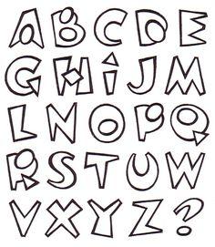 Graffiti Alphabet Styles, Graffiti Lettering Fonts, Hand Lettering Alphabet, Doodle Lettering, Creative Lettering, Types Of Lettering, Lettering Styles, Writing Fonts, Beautiful Lettering