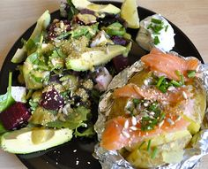 ... cheese // Avocado beetroot feta salad with honey mustard vinaigrette