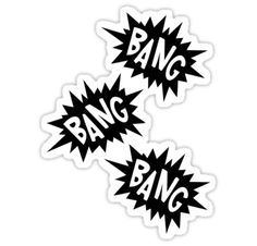 """Cartoon Bang Bang Bang by Chillee Wilson"" Stickers by ChilleeWilson 