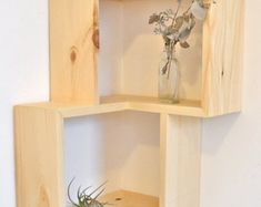 Corner Box Shelf by The807 on Etsy