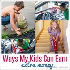 Kids and Parenting | Ways My Kids Can Earn EXTRA Money {outside of weekly chores}