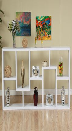 Hokku Designs Masima Unique Bookcase / Display Cabinet in White