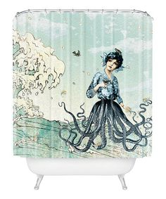 Look at this #zulilyfind! Sea Fairy Shower Curtain #zulilyfinds. Love this and never seen anything like it.