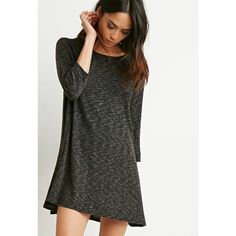 Forever 21 Marled Knit Trapeze Dress ($20) ❤ liked on Polyvore