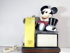 Mickey Mouse Unisonic Push Button Phone by DoorCountyVintage, $29.50 #Disney #Electronics #Phones