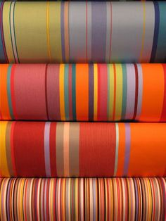 Les Toiles du Soleil from Gudrun Sojun--designer of women's clothes that are very brightly colored usually.