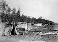 """1886: Chinese camp, Kamloops, British Columbia - In the late 19th century, many Chinese migrant workers came to the """"Golden Mountain"""" (as they called North America) to work on the building of the Canadian Pacific Railway. Wages were low, conditions were harsh, and discrimination was rife - they were hired simply because they were cheap, expendable labour - but for many, even that was wealth compared to what they had back home. Canadian Identity, Canadian Pacific Railway, Migrant Worker, Canada, The Expendables, Photo Story, Historical Photos, British Columbia, Social Studies"""