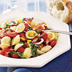Bacon and Tomato Pasta Salad. Making this with a few of my own alterations.