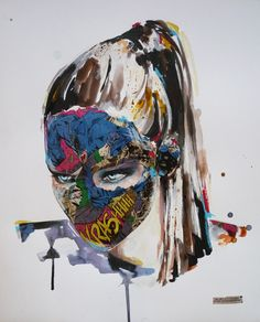 Lora Zombie and Sandra Chevrier: POW! POW!    http://www.we-heart.com/2013/08/21/lora-zombie-and-sandra-chevrier-pow-pow/