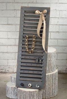 Lovely >> Tripar Wooden Shutter Jewellery Holder Wall Mounted Jewellery Armoire