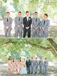 Can't decide how I feel about the contrast between the groom and groomsmen suits.but it is kinda coo' Groom And Groomsmen Suits, Groomsmen Outfits, Bridesmaids And Groomsmen, Wedding Suits, Wedding Attire, Wedding Colors, Blue Wedding, Wedding Inspiration, Wedding Ideas