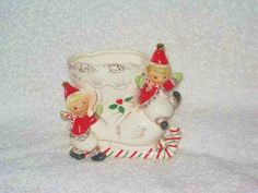 Great , Christmas, vintage , pixie elf planter.....this is the matching planter in the opposite direction of its partner...also have the