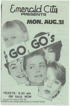 The Go-Go's at Emerald City, NJ #poster 1981