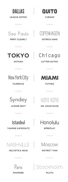 These fonts would be cool for photo books from travelling. Get a font that suits the place you went to.
