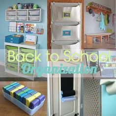 Roundup of back to school organization projects from Teal & Lime.