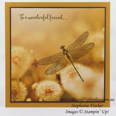 www.thecraftythinker.com.au, Serene Scenery, Dragonfly Dreams, Quick card, #thecraftythinker, Stampin Up