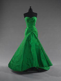 50's emerald green ball gown