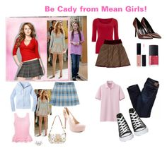 """""""Last Minute Mean Girls Costume"""" by emilymarieroth ❤ liked on Polyvore featuring Dorothy Perkins, D&G, George J. Love, NARS Cosmetics, Uniqlo, American Eagle Outfitters and Converse"""