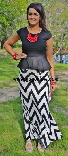 Cute chevron skirt!!